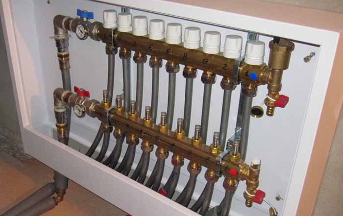 Коллектор для отопления: принцип работы, правила установки и подключения
