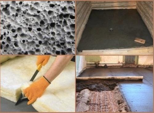 Утепление бетонного пола. обзор видов утеплителей и разбор технологии их монтажа