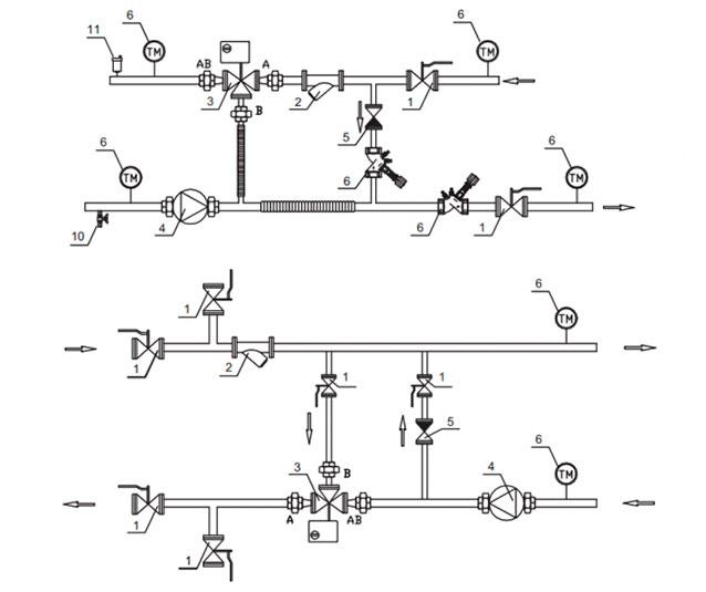 Узел обвязки калорифера -  конструкция, которая обеспечивает необходимые параметры воздуха в помещении