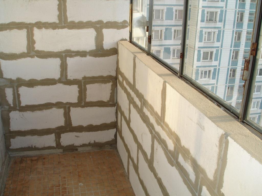 Как утеплить балкон или лоджию пеноблоком?