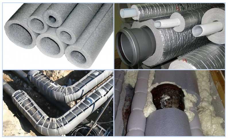 Чем утеплить канализационную трубу в земле наружную