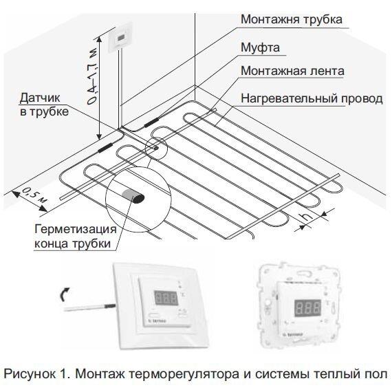Как правильно установить терморегулятор для теплых полов своими руками