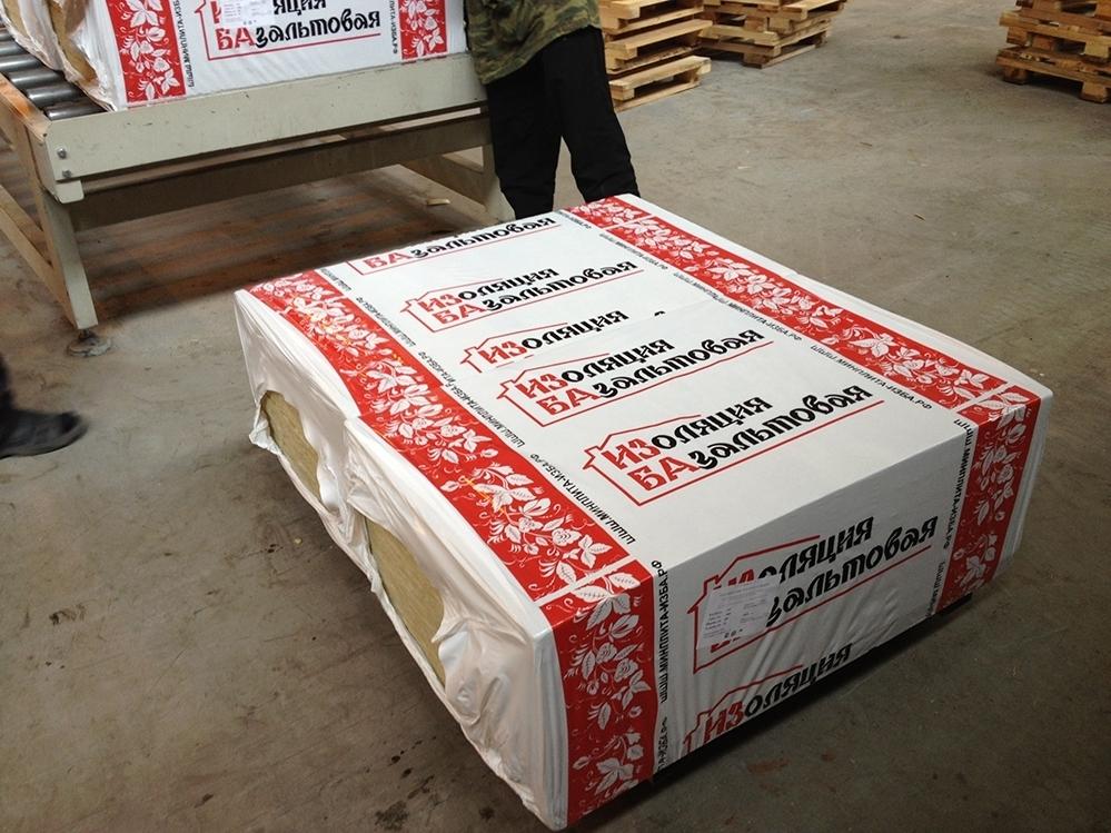 Теплоизоляция, пленки :: базальтовый утеплитель :: утеплитель базальтовый , изба стандарт р-45, 1000*600*50 мм.