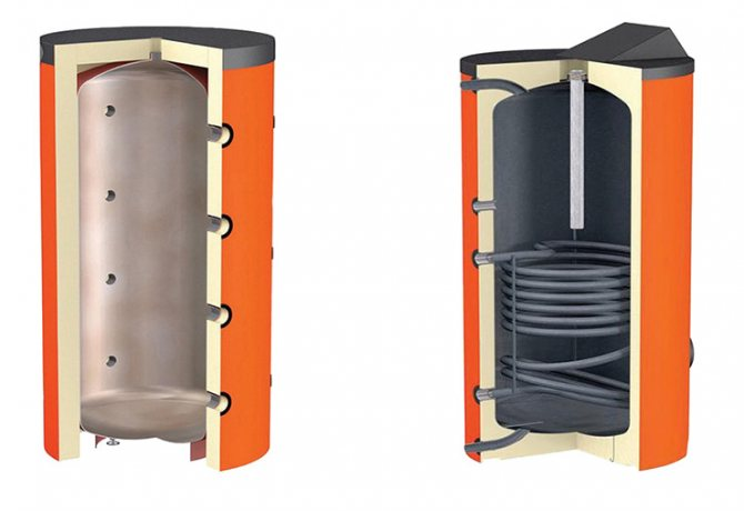 Подключение буферной емкости к твердотопливному котлу