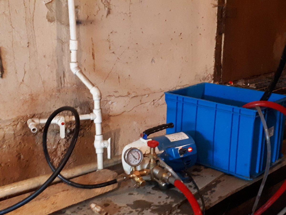 Опрессовка котла отопления и оборудования на герметичность