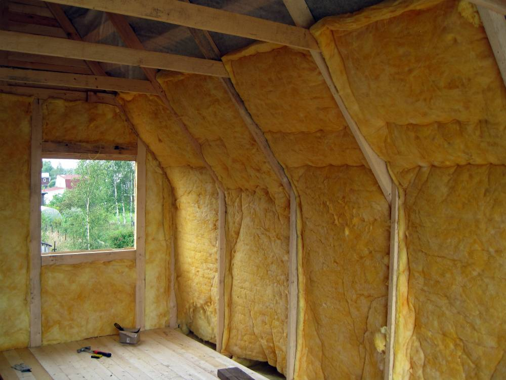 Утепление крыши изнутри минватой своими руками