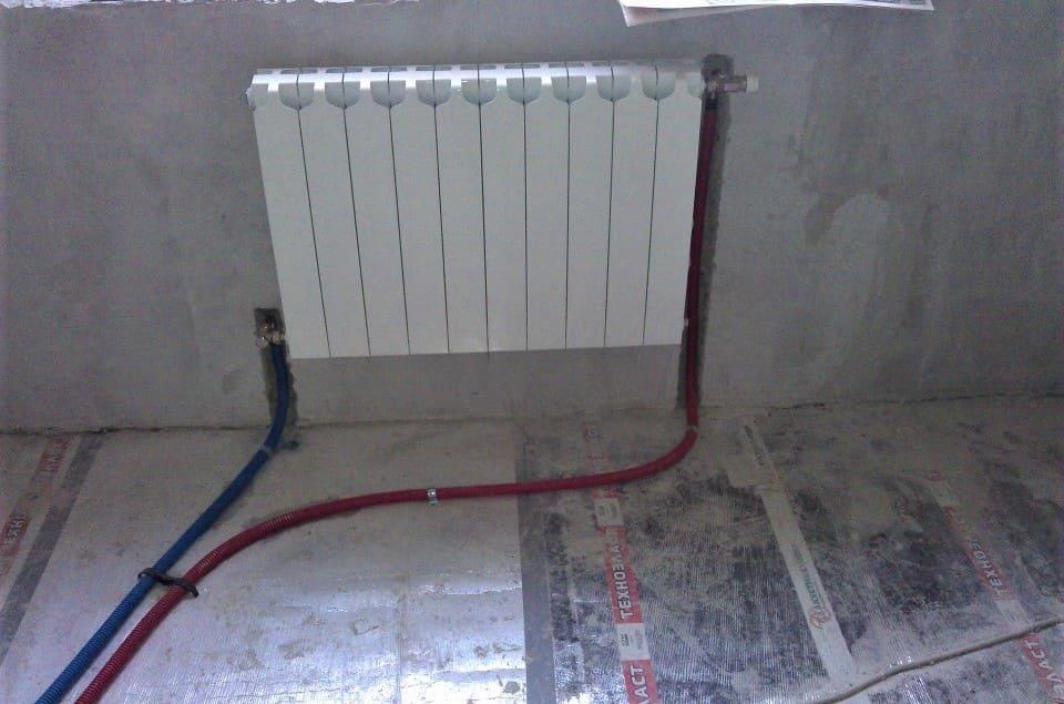 Трубка для подключения радиатора т-образня 16*250мм