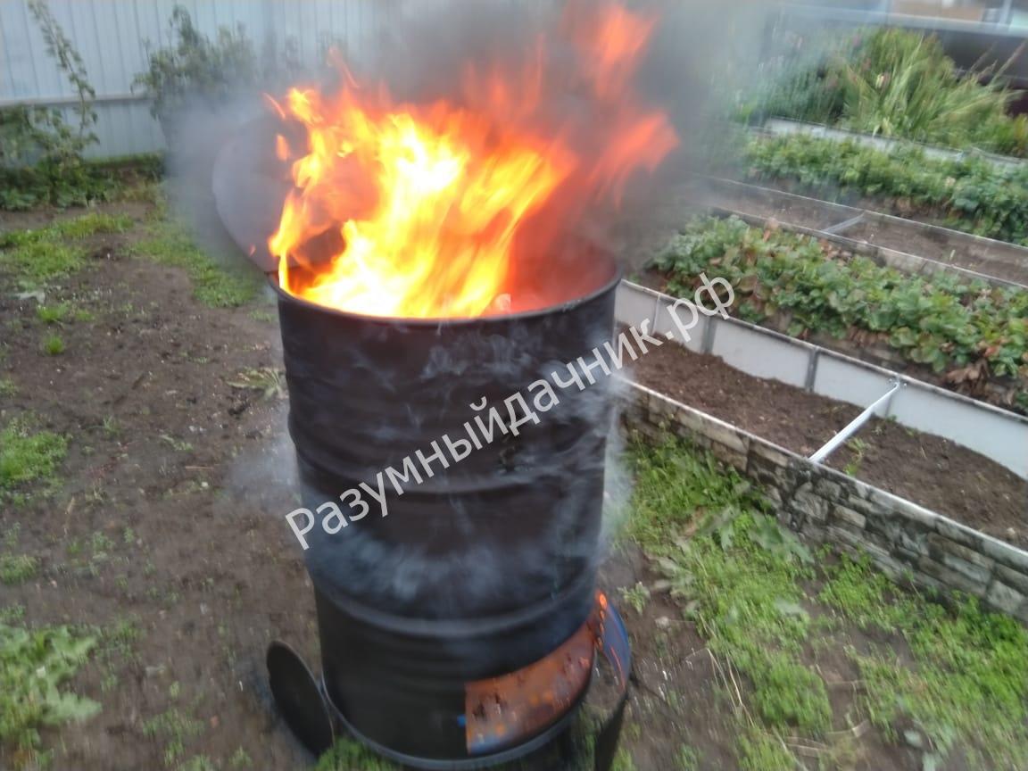 Дачная печь для сжигания мусора: покупные и самодельные варианты, что выбрать