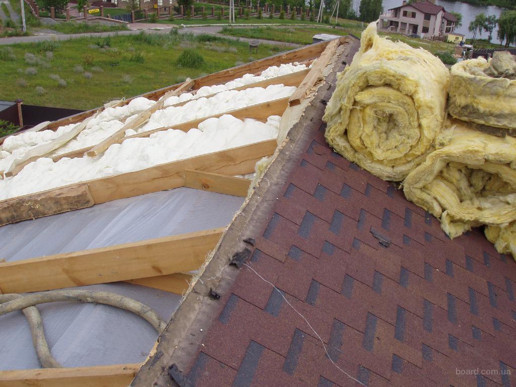 Технология утепления крыши пеной