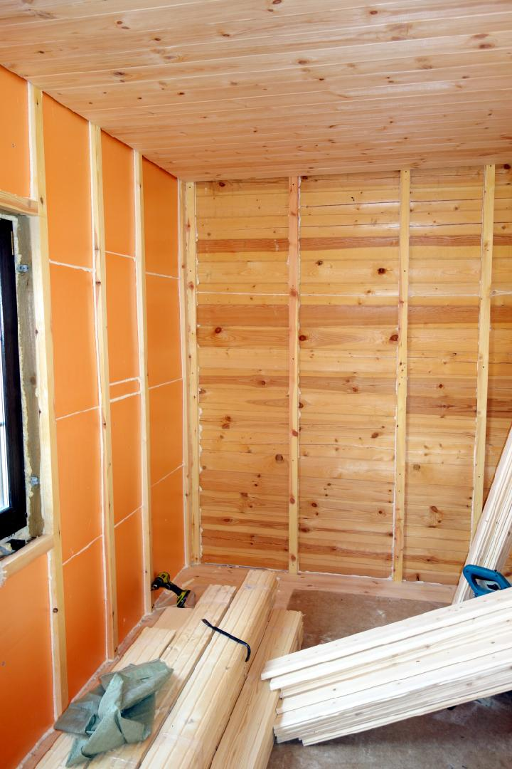 Утепление стен внутри деревянного дома своими руками