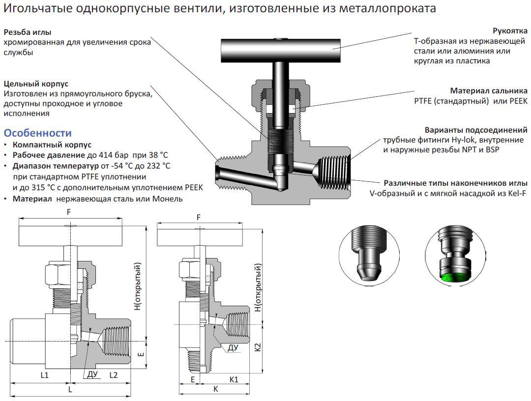 Вентили для радиаторов отопления: игольчатый, терморегулирующий клапан для батареи