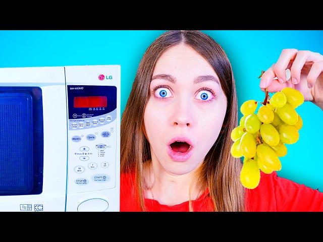 Что будет, если положить виноград в микроволновку