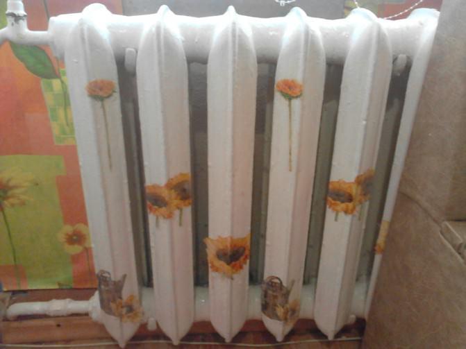 Декор батарей отопления своими руками, наклейки, фото, рисунки
