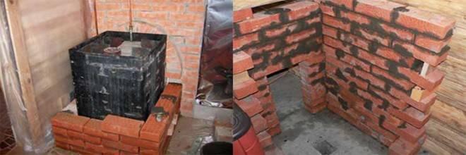 Как обложить железную печь в бане кирпичом своими руками: пошаговая инструкция с фото
