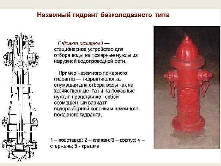 Пожарные гидранты: нормы и правила, марки, размеры, требования
