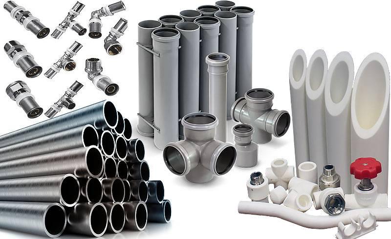 Разновидности водопроводных труб в водоснабжении квартир