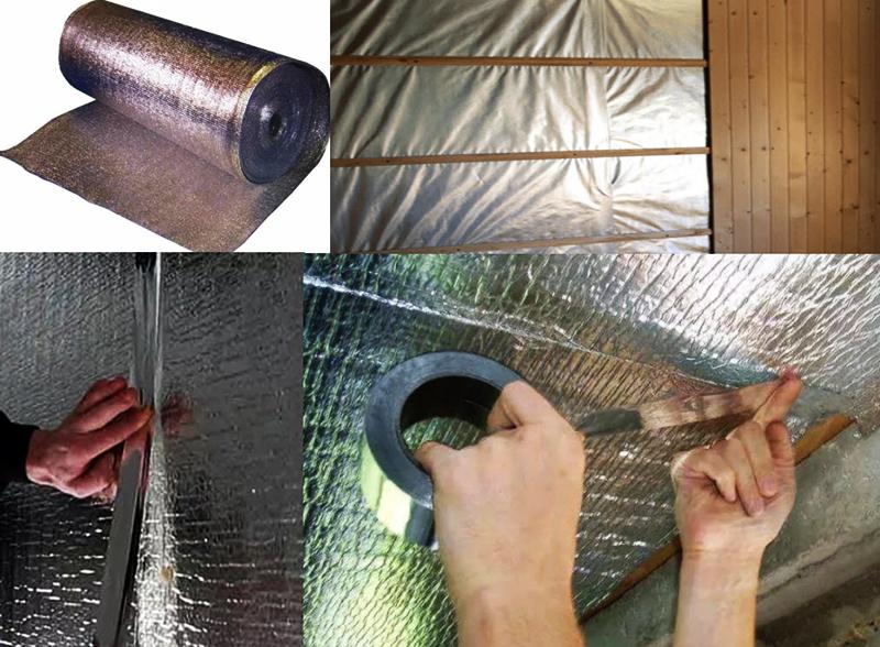 Изолон фольгированный: особенности материала