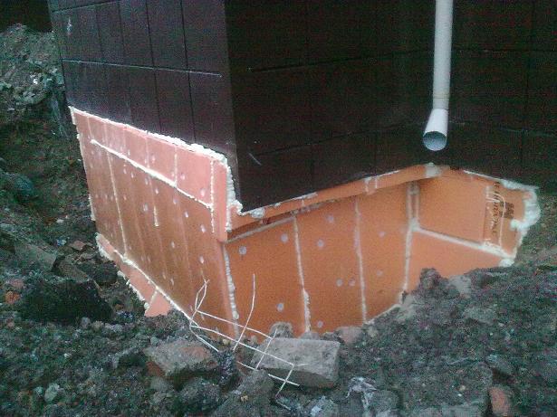 Утепление фундамента дома снаружи пеноплексом