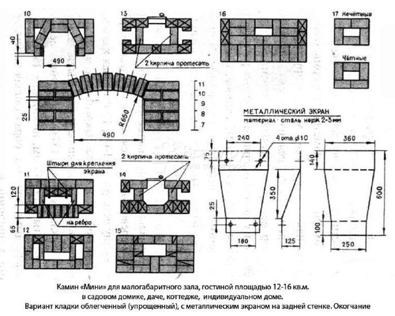 Камин из кирпича: 90 фото изготовления, проекты и расчет необходимый для постройки камина