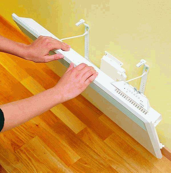 Как правильно установить конвектор на стену - клуб мастеров