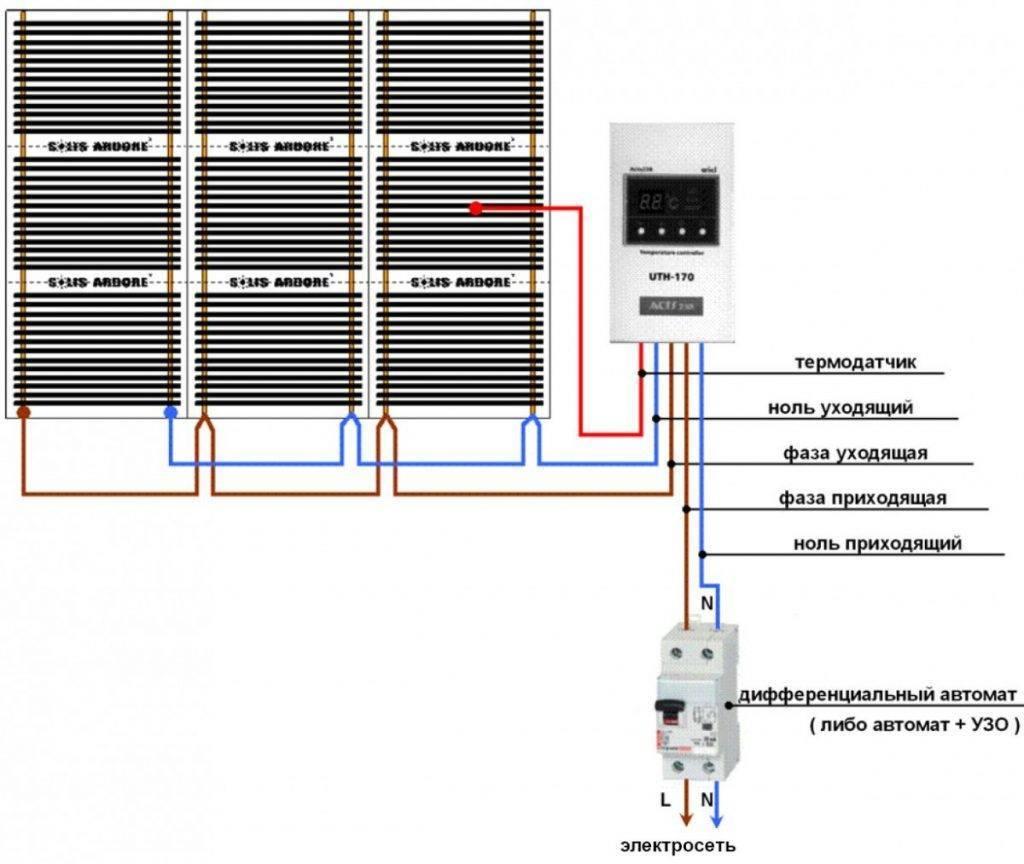Как правильно подключить теплый пол к сети через терморегулятор