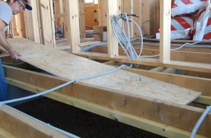 Пол в каркасном доме - варианты устройства, конструкция и утепление