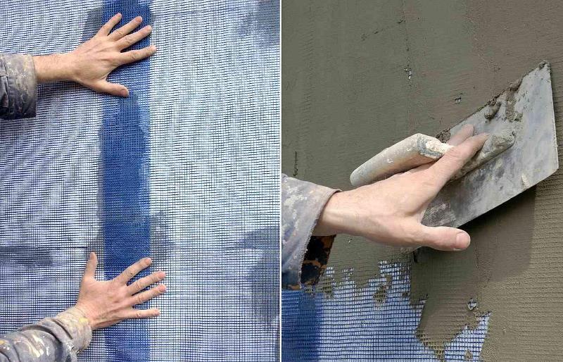Штукатурка по пенопласту снаружи: чем и как штукатурить своими руками