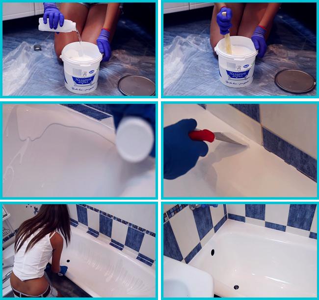 Восстановление старых ванн - ремонт поверхности и способы реанимации