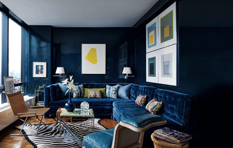 Синий цвет в интерьере (87 фото): с какими другими цветами он сочетается? синие стены, диваны и кровати, цветовая палитра синих оттенков