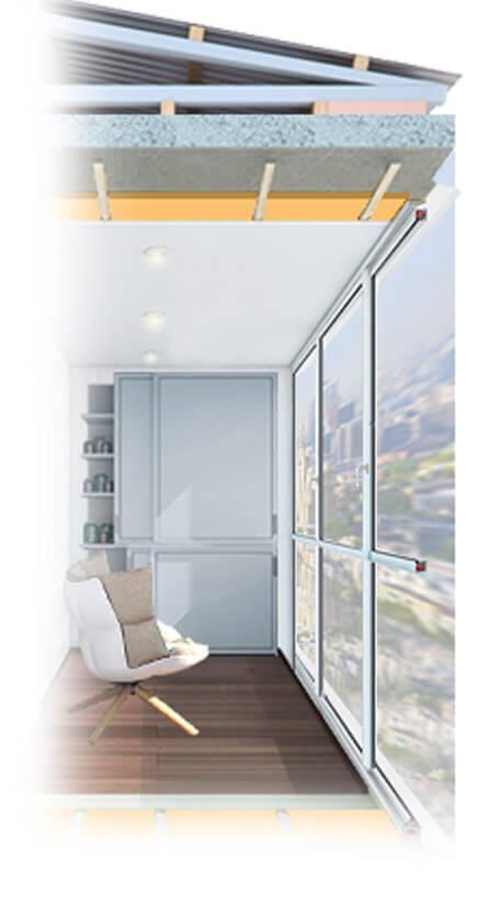 Утепление лоджии с панорамным остеклением, витражного окна балкона