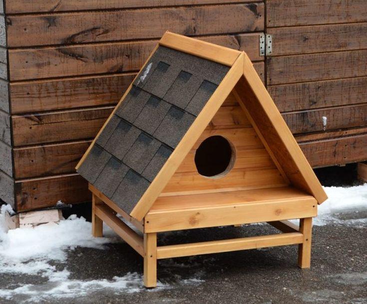Уличная теплая будка для кошки