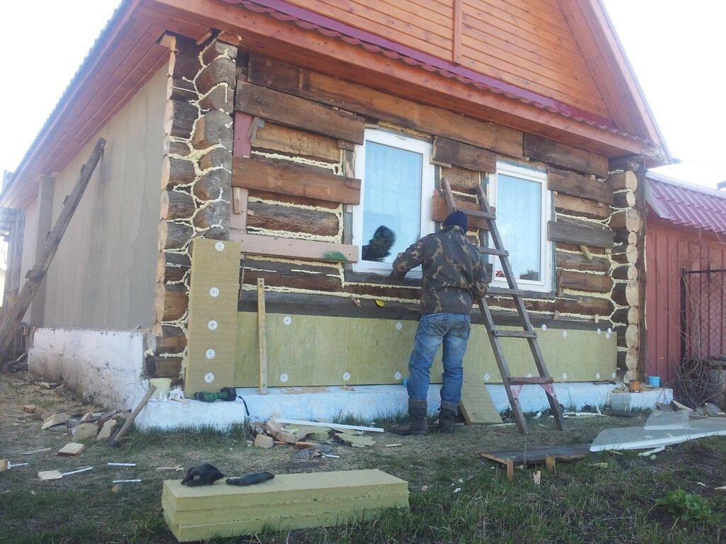 Утепление деревянного дома снаружи и изнутри   фото и видео