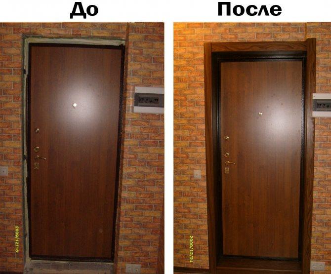 Как сделать откос для входной двери, какие материалы для этого можно использовать