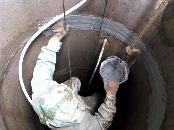 Гидропломба для колодца - технология заделывания щелей в бетоне