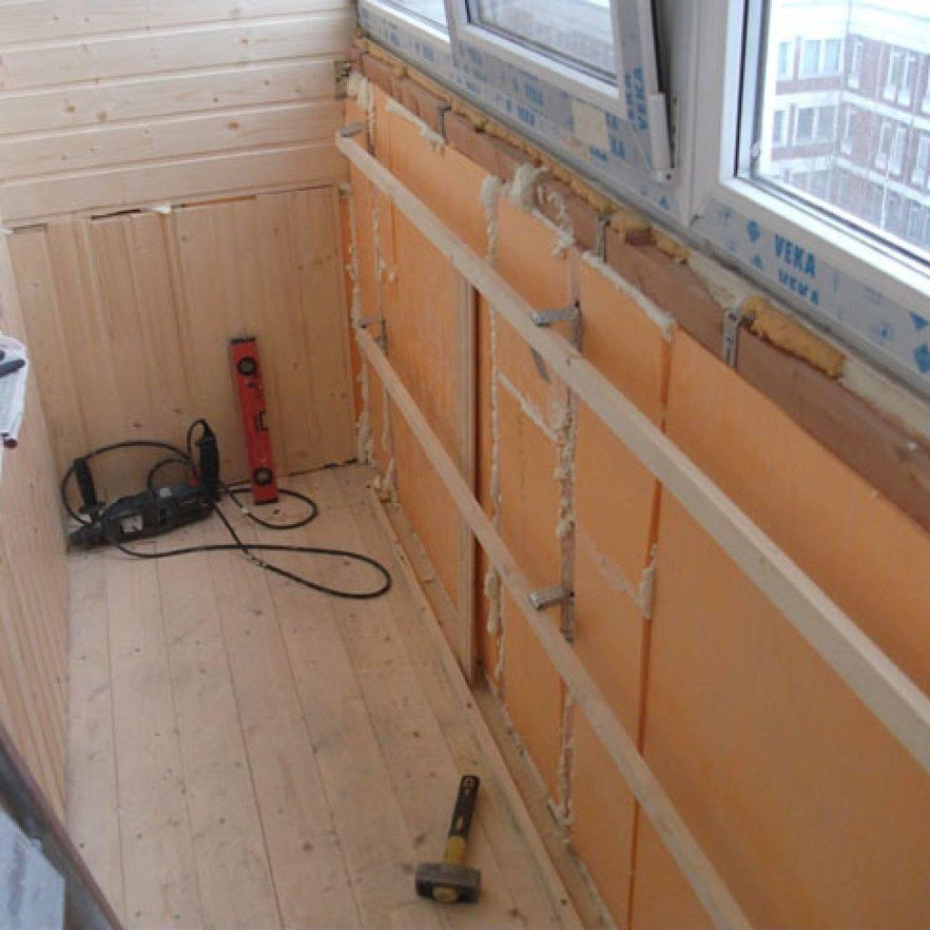 Утепление стен лоджии: теплоизоляция балкона изнутри, выбор нужного материала