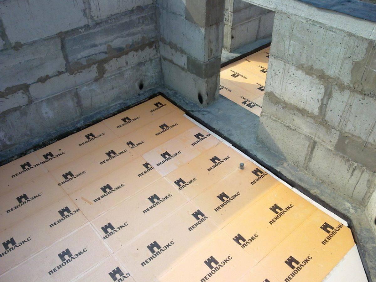 Как утеплить бетонные полы пеноплексом под стяжку самостоятельно