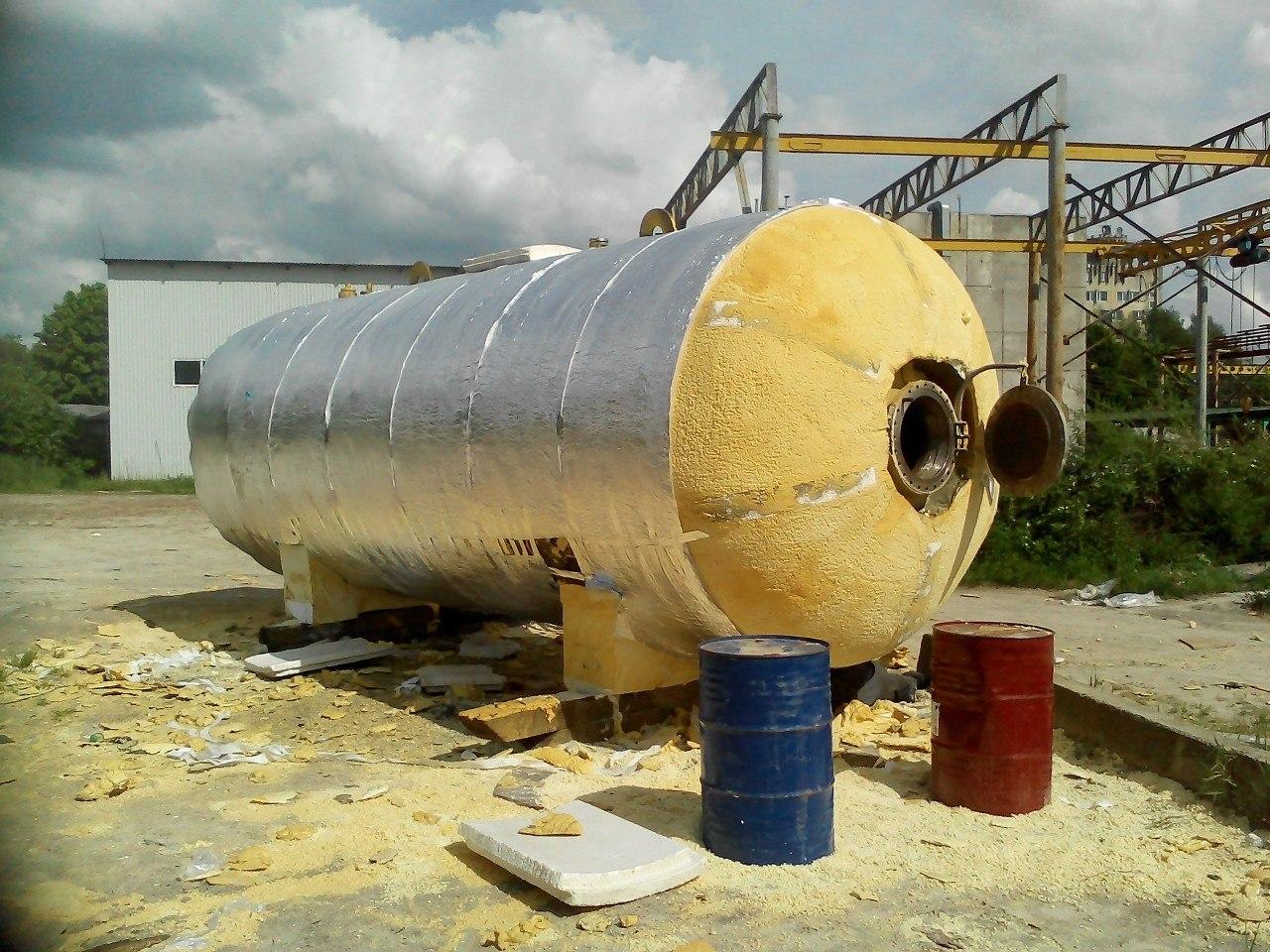 Теплоизоляция резервуарного оборудования пенополиуретаном