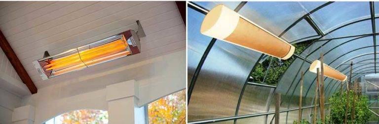 Как установить потолочные инфракрасные обогреватели для теплиц
