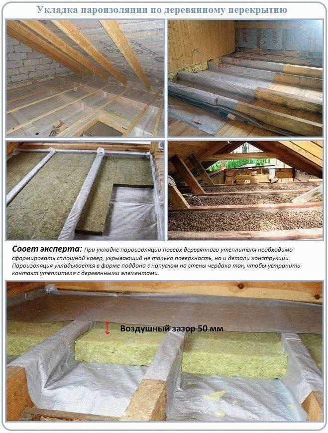 Как правильно уложить пароизоляцию на потолок? (18 фото)
