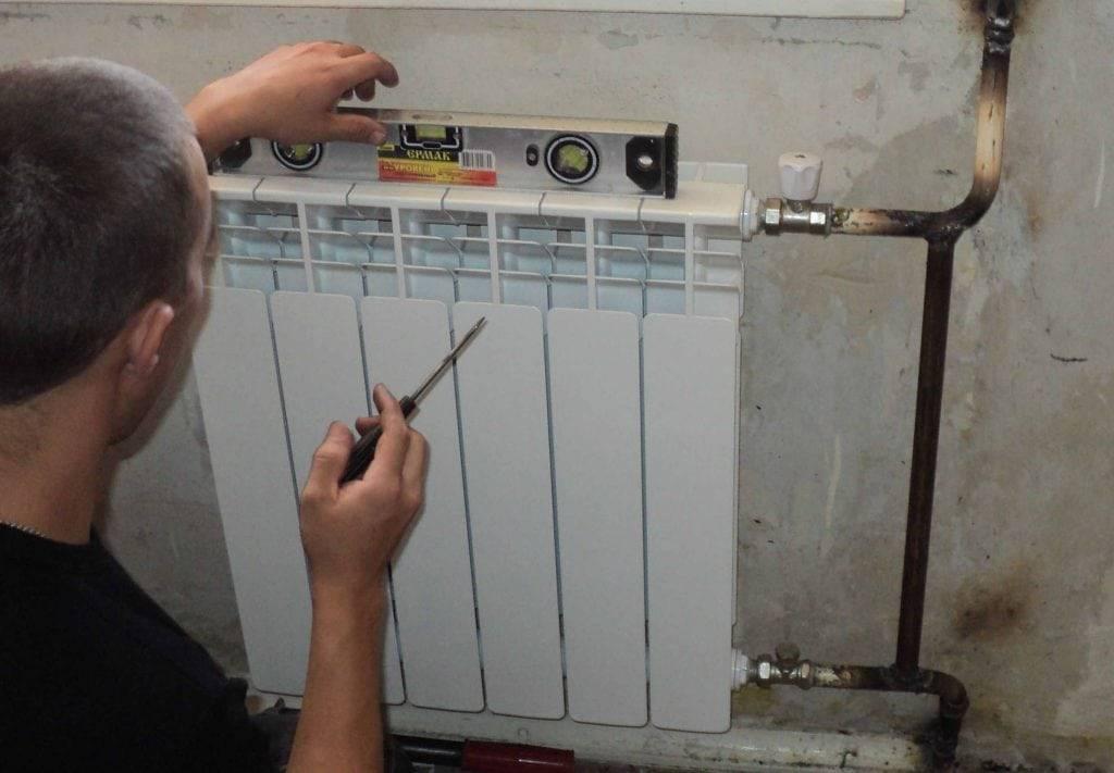Биметаллические радиаторы: подключение, арматура и схемы установки