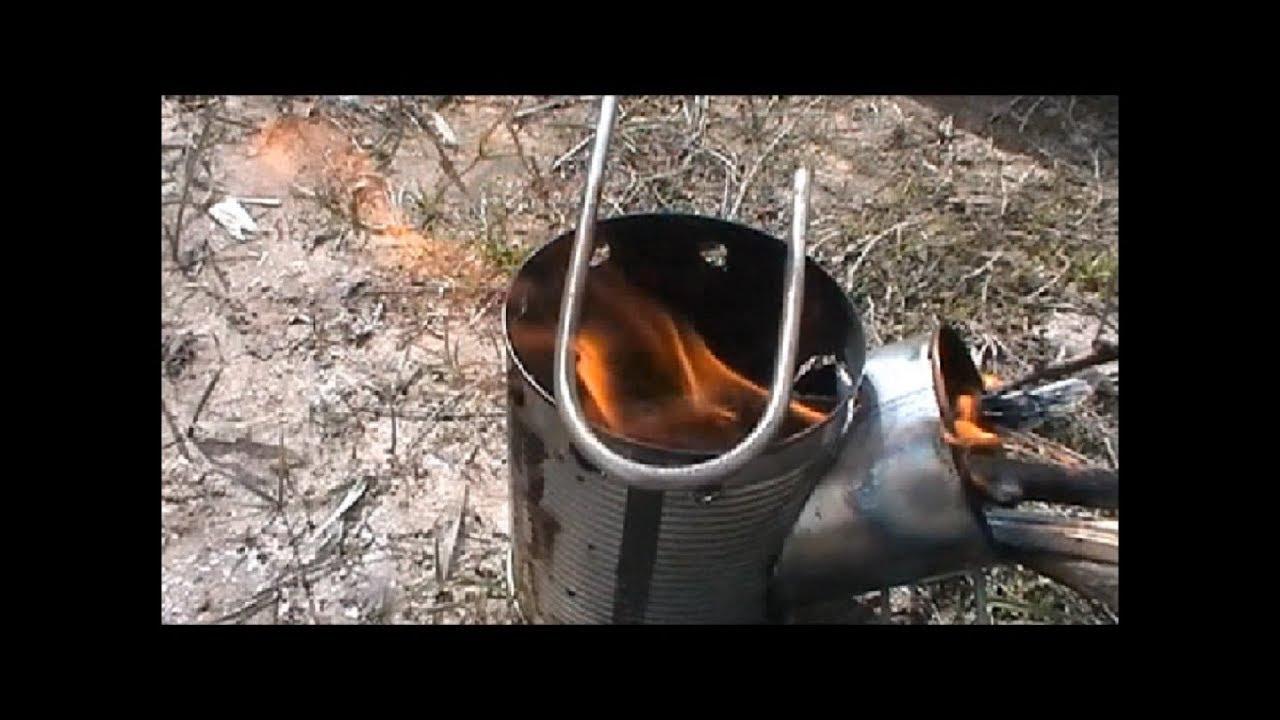 Ракетная печь робинзон своими руками