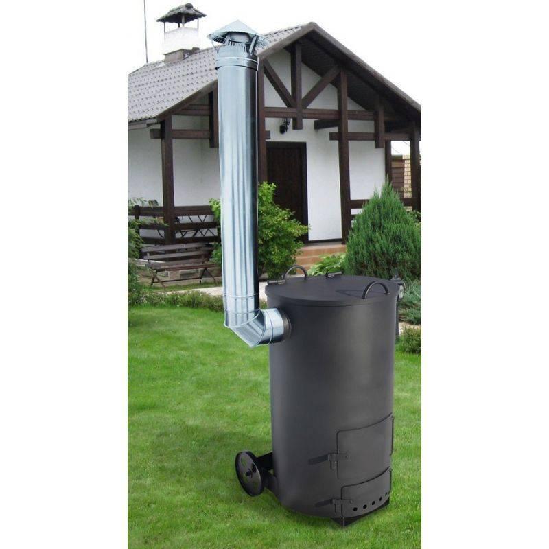Конструкции садовых печек для сжигания отходов на даче
