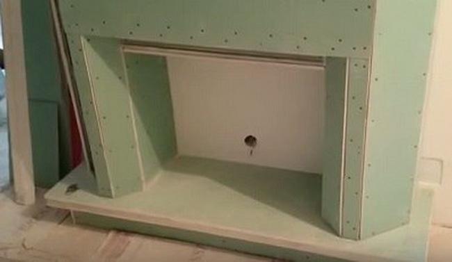 Портал для камина из гипсокартона своими руками (41 фото): каминный портал для электрокамина