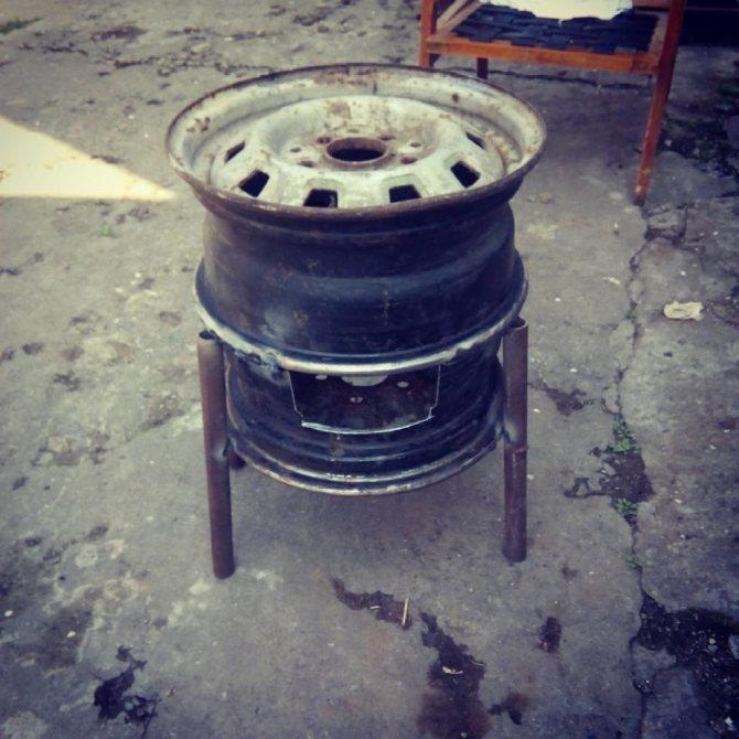 Как сделать печь для бани из дисков грузового автомобиля своими руками