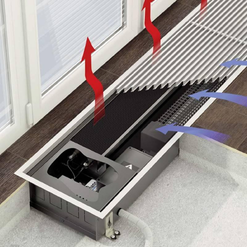 Установка и монтаж внутрипольных конвекторов своими руками