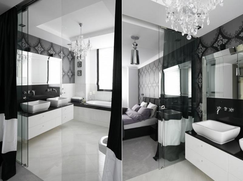 Ванные комнаты в черно-белом стиле: элегантный и вневременной тренд