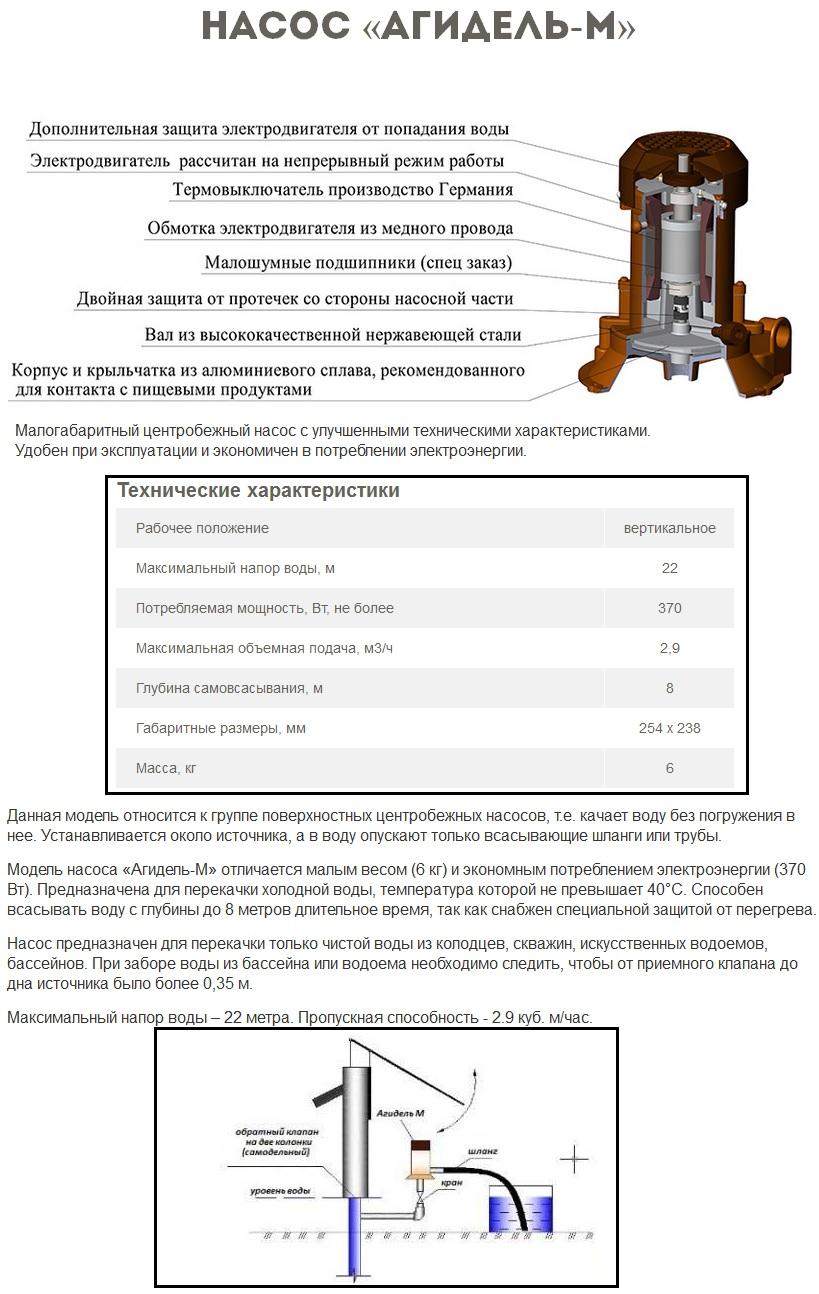 Электронасосы агидель — технические параметры, достоинства