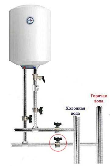 Как подключить бойлер к водопроводу: схема и инструкция по подключению правильно