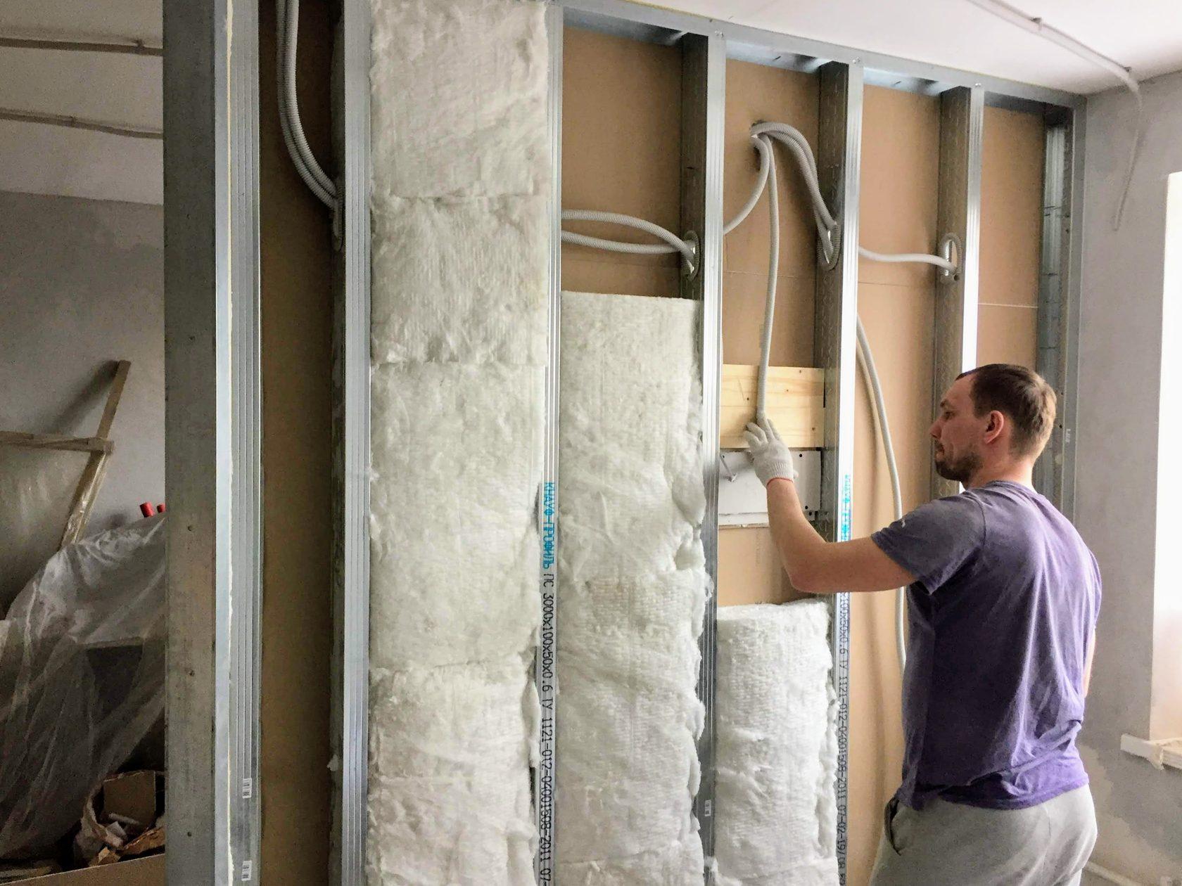Стены из гипсокартона — как сделать звукоизоляцию?