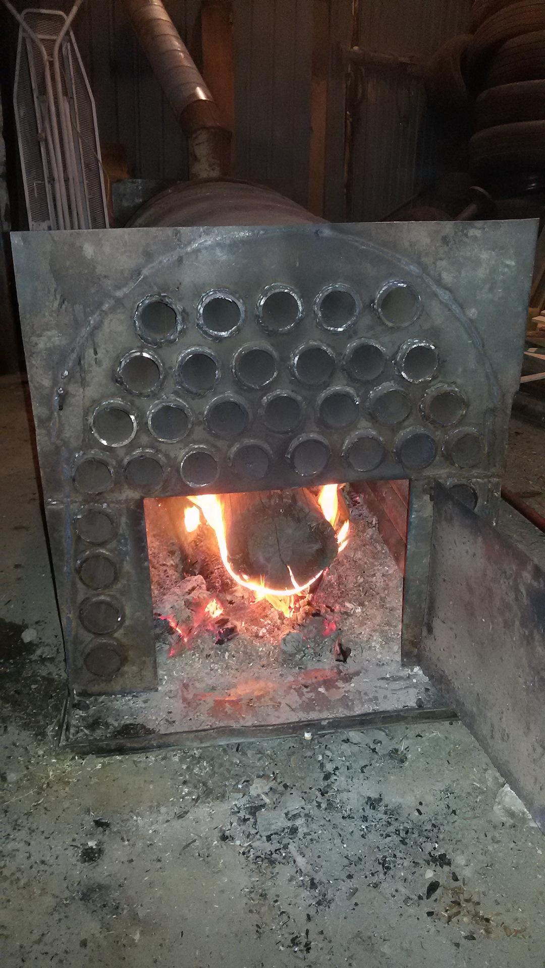 Как сделать теплообменник для печи на дровах своими руками?